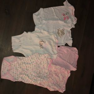 Baby girl onesie bundle